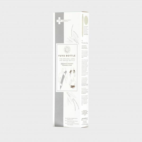 YUYU Bottle Cotton Pure Japanese cotton greystripe (Wärmflasche, Wärmebinde, Riesenwärmflasche)