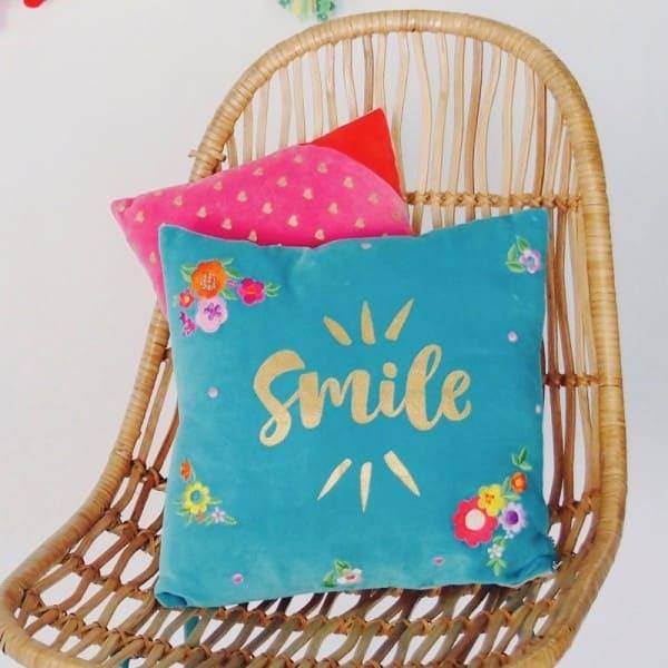 Kissenhülle Smile (Dekoration, Wohnzimmer, Küche, Schlafzimmer)