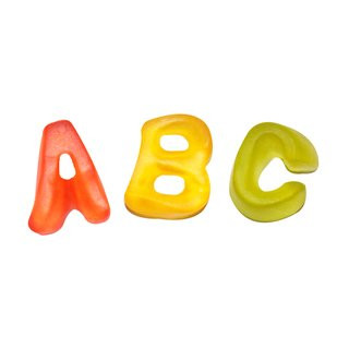 Yummi Buchstaben Fruchtgummi