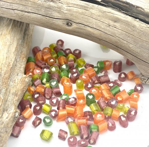Handgemachte Sylter Bonbons Rocks Herz-Mischung 150 gr.: verschiedene Geschmäcker ; süß