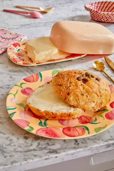 Melamin Butterdose Pfirsich, Firma Rice