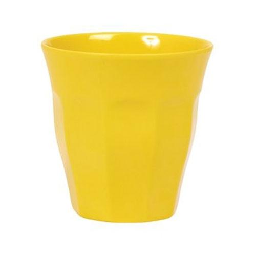 Melamin-Becher gelb, 9 cm x 9 cm, Firma Rice