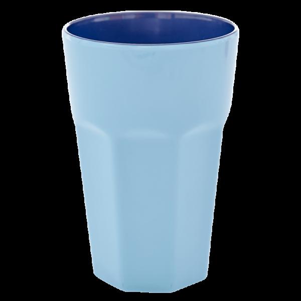 Melamin-Becher blau, 13 cm x 9 cm, Firma Rice