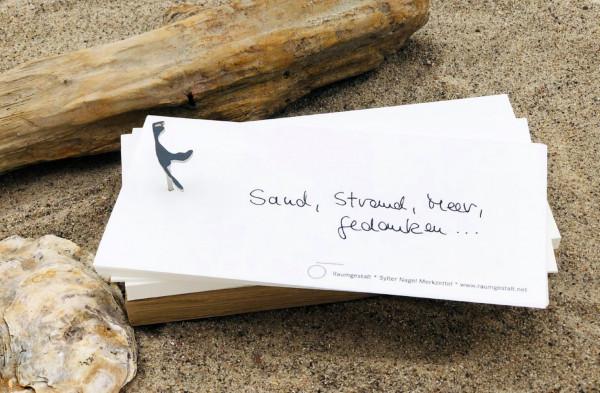 Sylter Nagel Merkzettel Sand, Strand, Meer, Gedanken....(Notizzettel, Notizblock, Notizen, Schreibbl