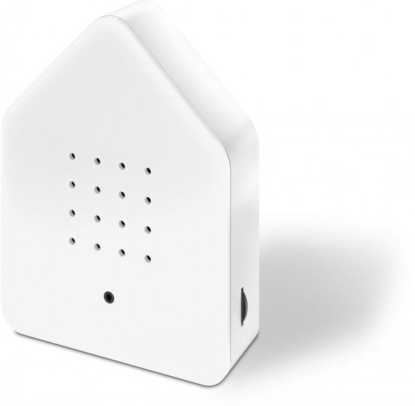 Zwitscherbox Classik Relaxbox weiß (Haus, Garten, Arbeit, Birdybox)