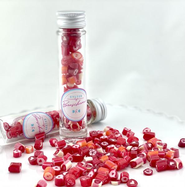 Handgemachte Sylter Bonbons Rocks LOVE-Mischung 40 gr.: verschiedene Geschmäcker ; süß