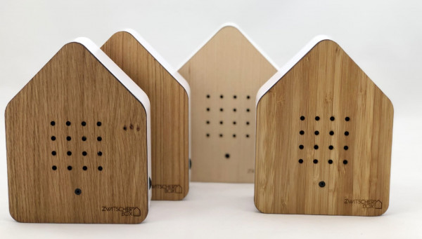 Zwitscherbox Classik Relaxbox Bambus (Haus, Garten, Arbeit, Birdybox)
