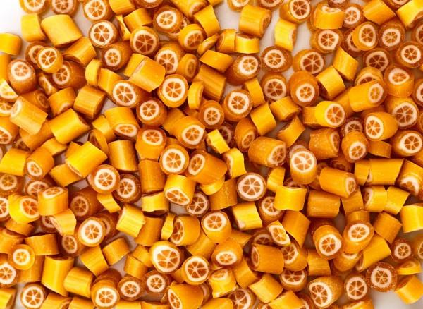 Handgemachte Sylter Bonbons Rocks Orangen: Orange; süß (Bonschen)