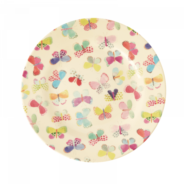 Melamin-Beilagenteller Schmetterlinge, Firma Rice