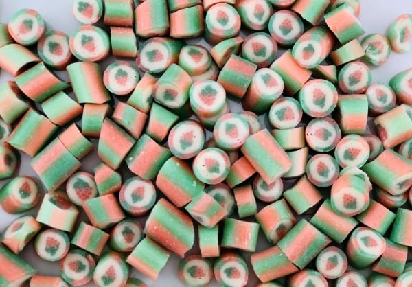 Handgemachte Sylter Bonbons Rocks Himbeere: Himbeere; süß (Bonschen)