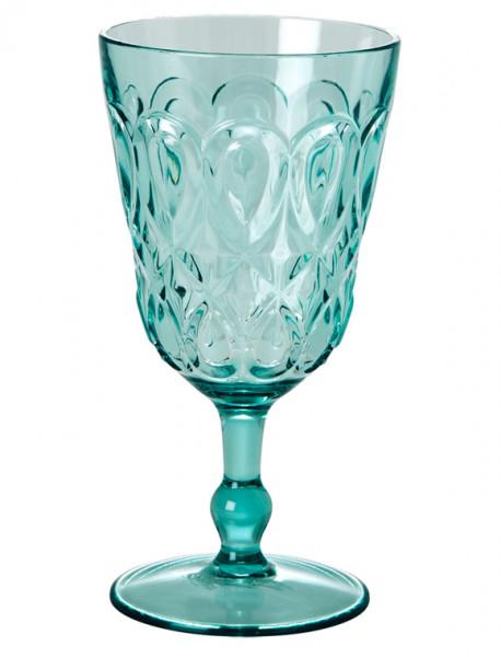 Weinglas Acryl mintgrün, 9 cm x 17 cm, Firma Rice
