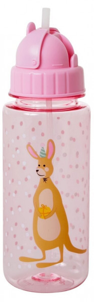 Kunststoff-Trinkflasche Party Animal pink, Firma Rice
