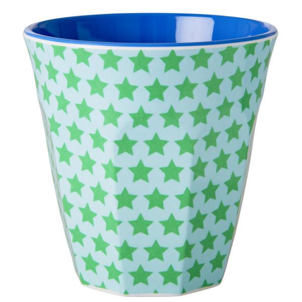 Melamin-Becher Stern grün, 9 cm x 9 cm, Firma Rice