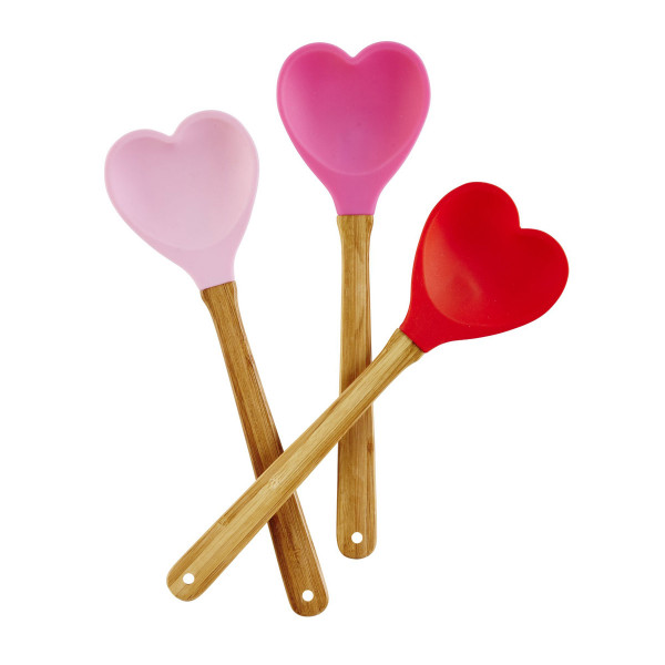 Silikon Löffel Herz rosa, der Firma Rice