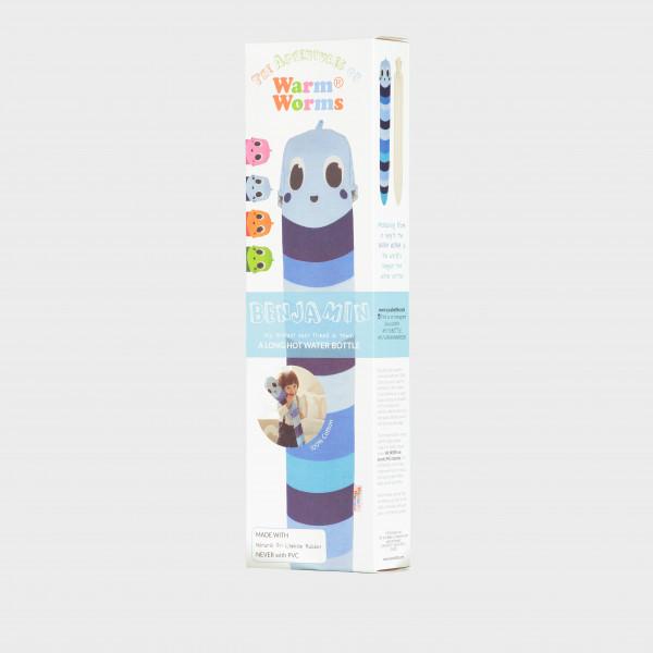 YUYU Bottle Warm Blue Ben (Wärmflasche, Wärmebinde, Riesenwärmflasche)