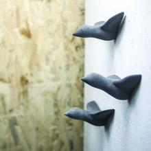 Mini Vogel schwarz (Wanddekoration, Garderobe, Garten, Küche, Beton)