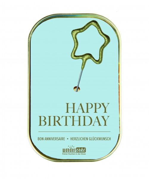 Wondercake Happy Birthday, blau Rührkuchen m.Vollmilchschokolade