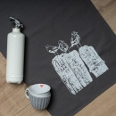 Geschirrtuch grau, Drei Möwen, weiß (Geschirrtuch, Geschirrhandtuch, Dekoration, Küche)