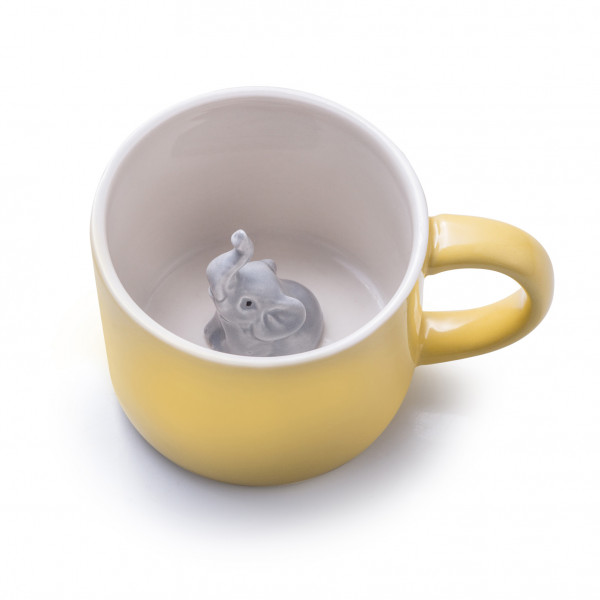 Tier Tasse Emma, ( Tasse,Natur, Ökologisch,Elefant, Kinder)