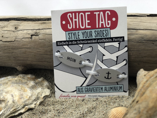Shoe Tag, Style Your Shoes, Moin und Anker (Schnürsenkel, Cool, Schuhe,Schuh Charms, Schuh-Schmuck,