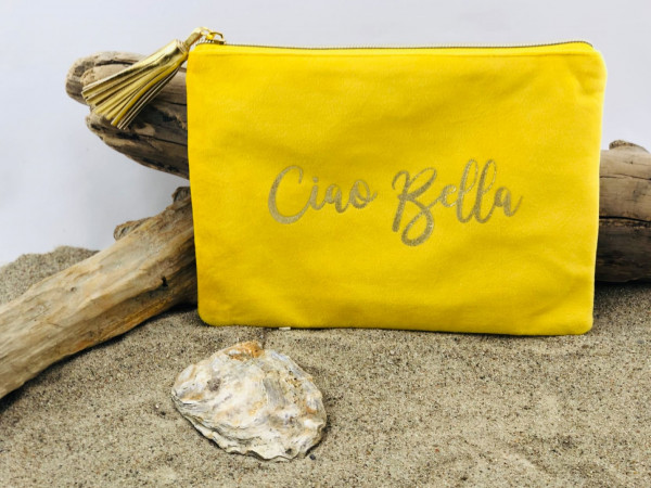 Mäppchen BonBon Ciao Bella gelb (Kosmetik, Tasche, Schreibutensilien, Geldkarten, Telefon, Make-up)