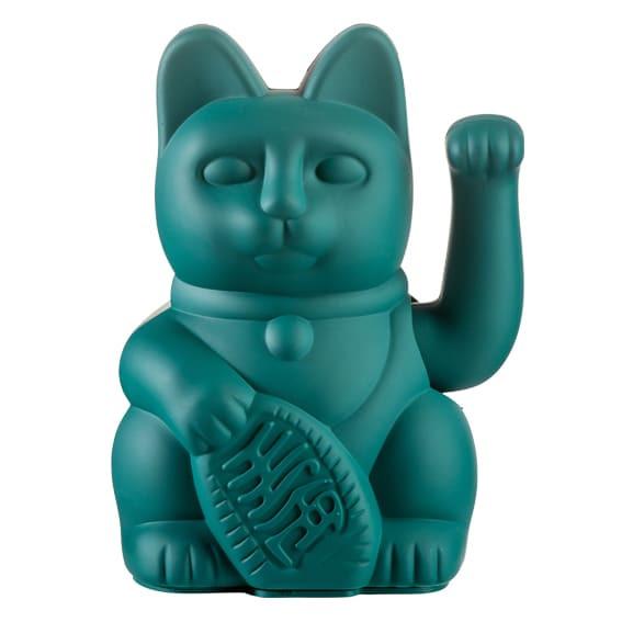 Winkekatze Katze Maneki Neko Japan Lucky Cat grün